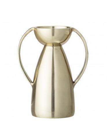 Złoty świecznik z metalu Christelle Bloomingville