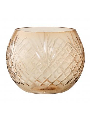 Szklany ozdobny świecznik Benjamina Bloomingville
