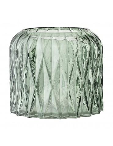 Szklany świecznik zielony Bloomingville