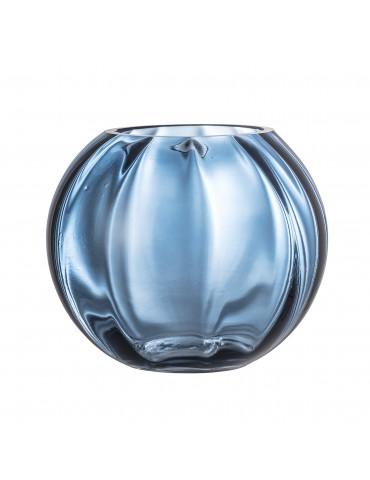 Ozdobny niebieski wazon