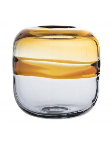 Szklany wazon w złotym kolorze