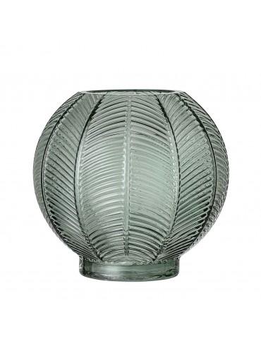 Stylowy zielony wazon szklany