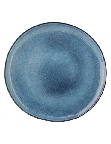 Elegancki niebieski talerz