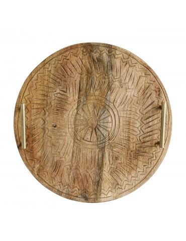 Drewniana taca ozdobna do serwowania Bloomingville