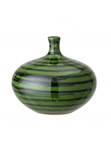 Zielony wazon z kamionki