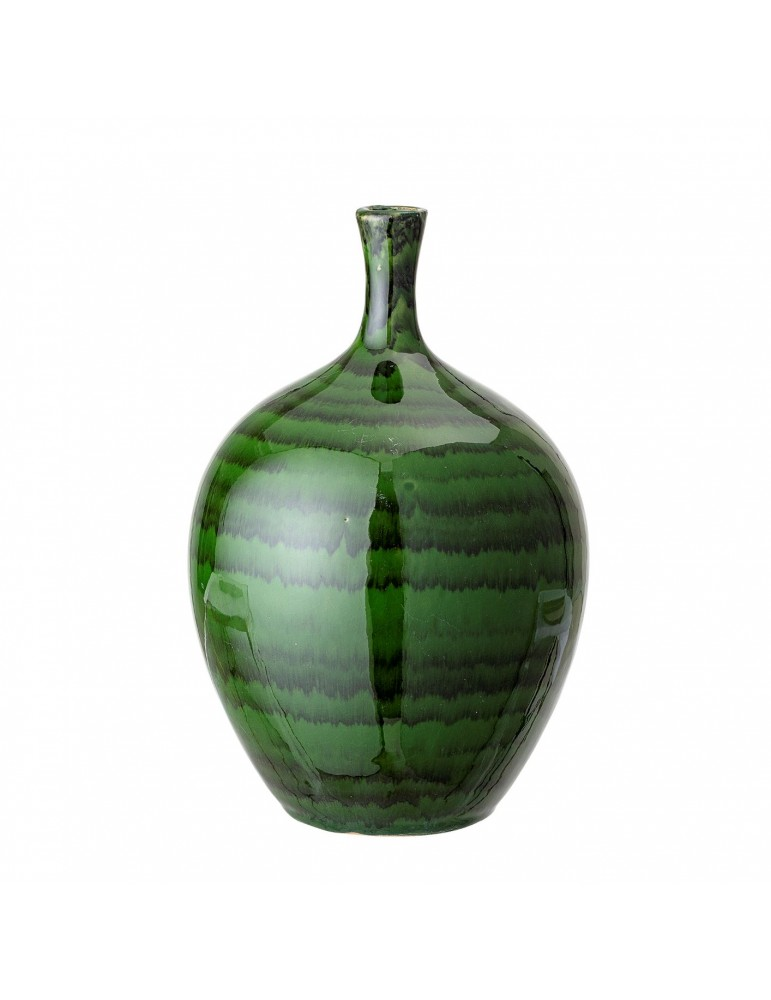 Stylowy zielony wazon z kamionki
