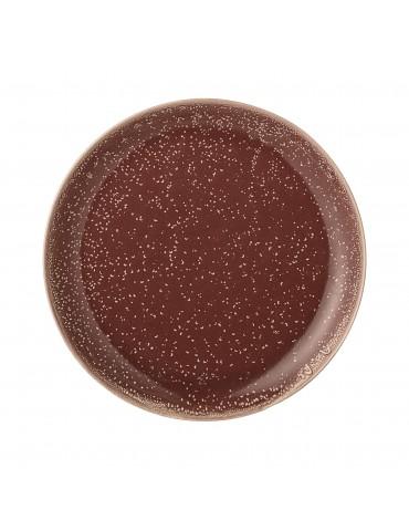 Piękny brązowy talerz