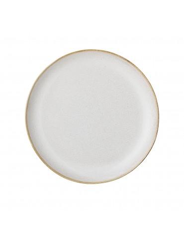 stylowy jasnobeżowy talerz