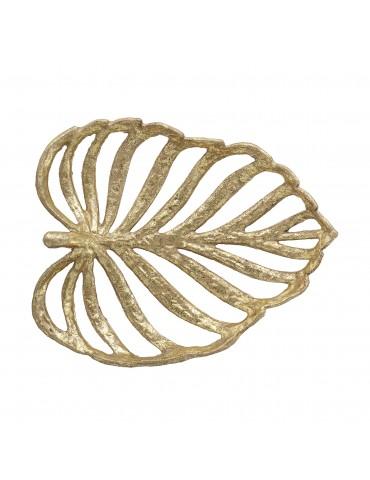 dekoracja złoty liść
