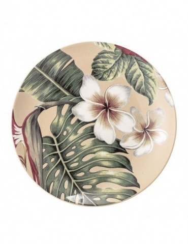 Talerz z motywem kwiatowym
