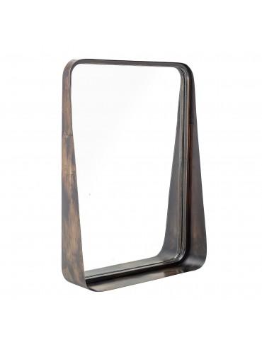 lustro w prostokątnej czarnej ramie