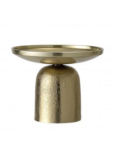 Świecznik metalowy złoty...