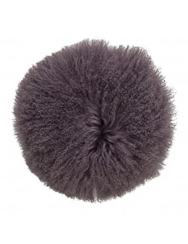 poduszka okrągła fioletowa