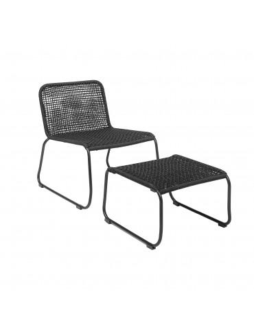 Krzesło z podnóżkiem Mundo Bloomingville