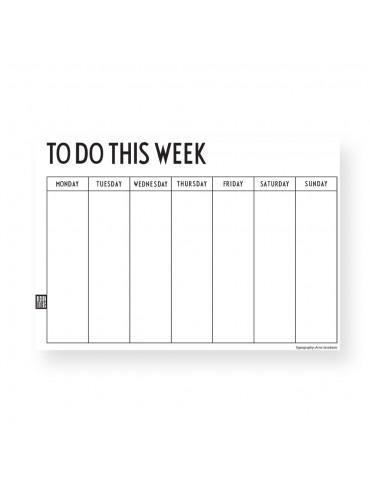 Planer tygodniowy do biura, do domu