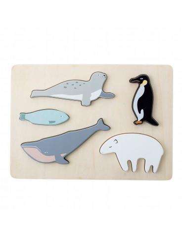 Puzzle dla dzieci drewniane zwierzątka