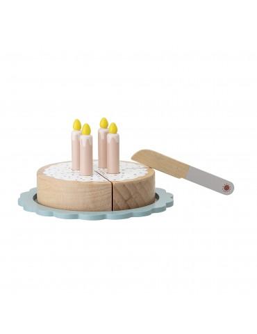 Drewniany tort zabawka