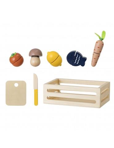 Zabawka drewniane owoce