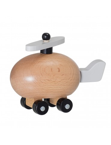 Helikopter z drewna zabawka
