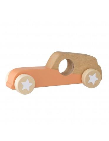 Drewniany samochodzik na kółkach