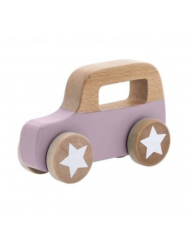 Drewniany samochodzik na kołach