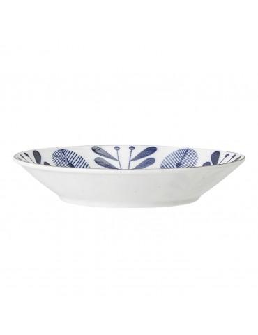 miska z porcelany z niebieskim wzorem