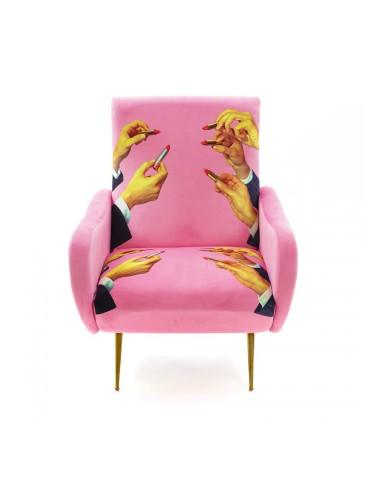 fotel lipsticks pink Seletti
