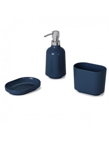 Niebieski dozownik do mydła