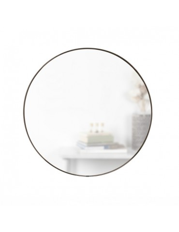 okrągłe lustro w minimalistycznej ramie