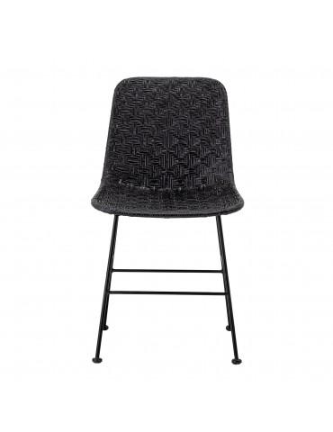 Krzesło rattanowe Kitty czarne Bloomingville