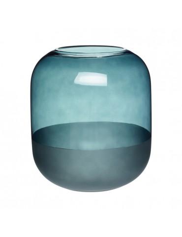 Niebieski szklany wazon ozdobny