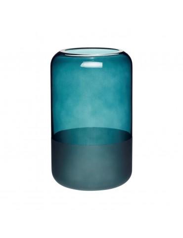 Wazon niebieski ze szkła mrożonego