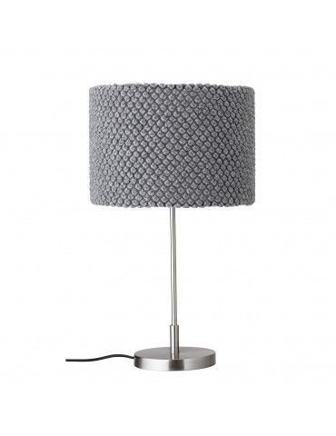 lampa stołowa szara Bloomingville