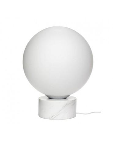 Lampa stojąca biała kula