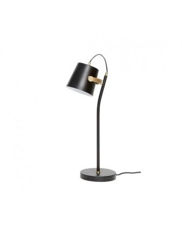 prosta lampa stołowa czarna