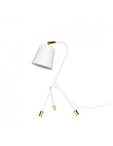 lampa biała stołowa ozdobna