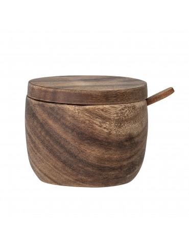 Pojemnik drewniany z łyżeczką Eliva Bloomingville