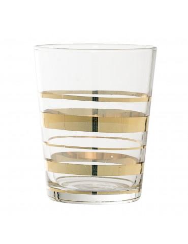 Szklanka ze złotymi zdobieniami Tumbler Bloomingville