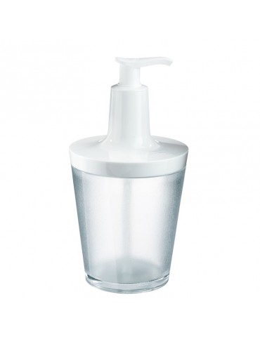 Biały dozownik do mydła Flow marki Koziol