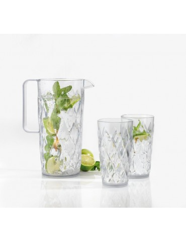Elegancka szklanka z tworzywa sztucznego