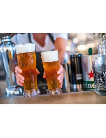 Elegancka szklanka do piwa z plastiku