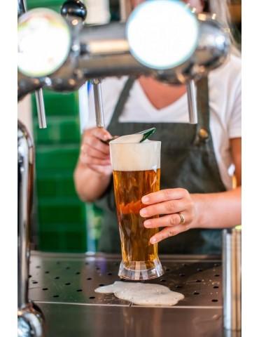 Nowoczesna szklanka do piwa z tworzywa sztucznego