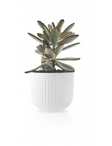 Biała doniczka z porcelany Eva Solo