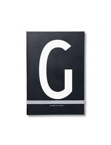 Notatnik osobisty z literą. Pamiętnik z literą.
