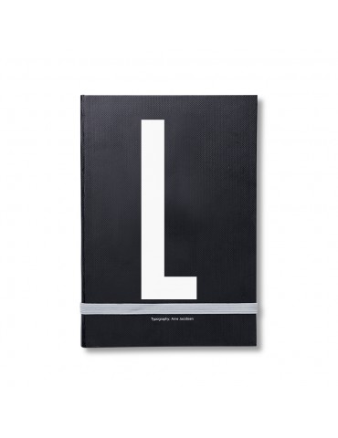 Notatnik z literą Design Letters