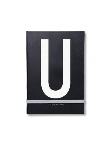 Notatnik osobisty z literą Design Letters